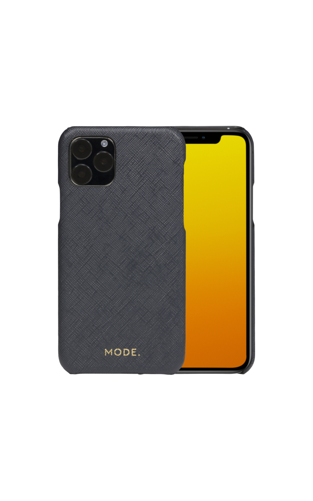 Shadow Grey by dbramante1928 London full-grain leather phone case MODE Compatible with iPhone 11